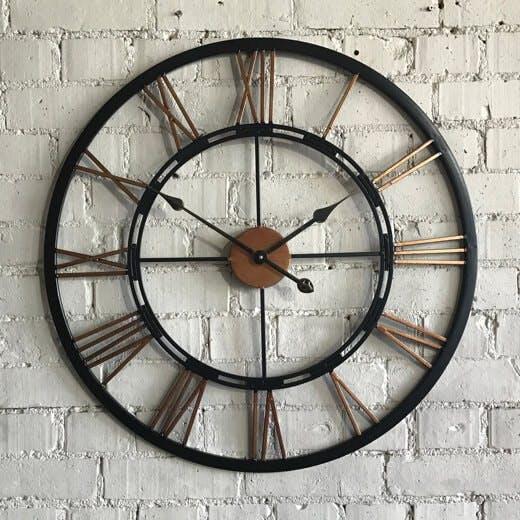 Copper and Black Clock