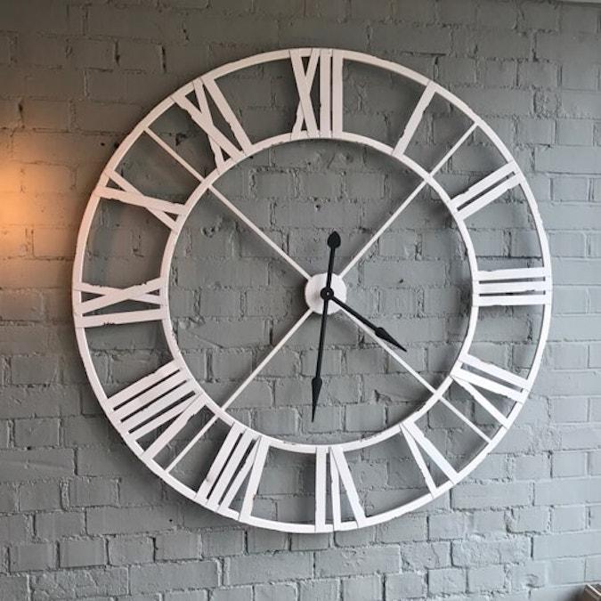 Large Aged White Clock