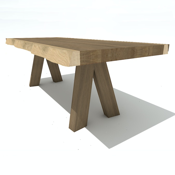 Stock Offer Slyce Table-Smoked White
