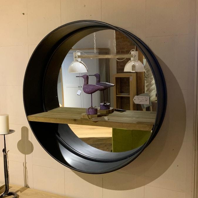 Round Industrial Mirror